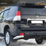 Защита заднего бампера уголки d76(секции) Land Cruiser Prado 150 2009-2012