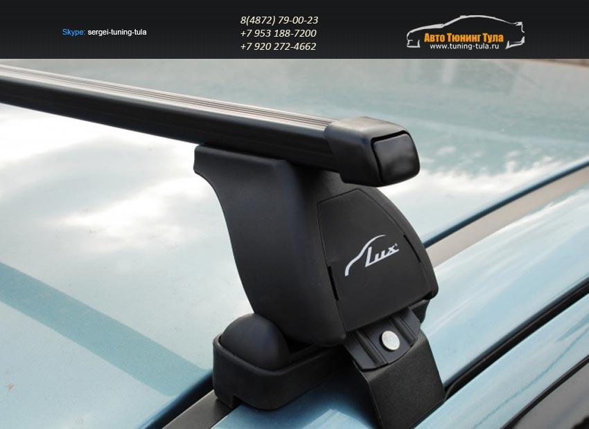 Багажник на крышу Nissan Juke /Lux с прямоугольными дугами/ арт.342-2