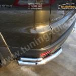 Защита задняя уголки двойные d76,1/42,4 мм. Mitsubishi Pajero Sport 2013+