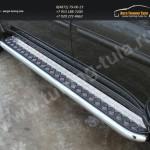 Пороги с площадкой 60,3 мм. Mitsubishi Pajero Sport 2013+