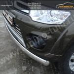 Защита передняя нижняя (овальная) 75х42 мм. Mitsubishi Pajero Sport 2013+