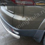 Защита задняя центральная (овальная) d75х42 мм. Mitsubishi Pajero Sport 2013+