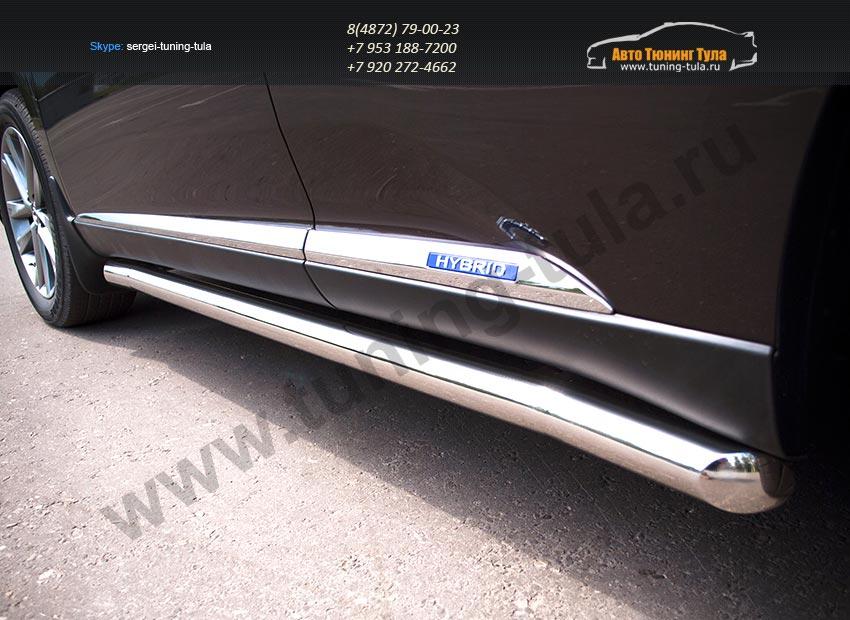 Пороги труба d63 Lexus RX III с 2012 г./ арт.438-2