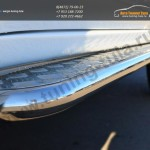 Пороги труба d42 с алюминиевым листом  Mitsubishi Pajero Sport 2013+