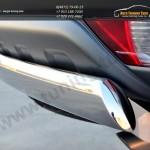 Защита заднего бампера 75х42 (овальная дуга) Mitsubishi Pajero Sport 2013+