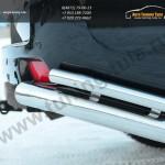 Защита заднего бампера уголки d76(секции) d42(секции) Land Cruiser Prado 150 2009-2012