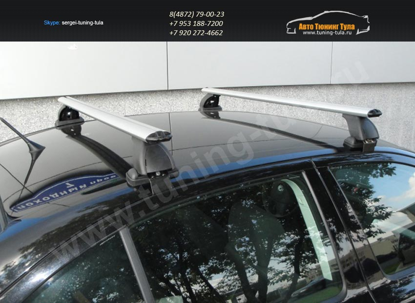 Багажник на крышу Nissan Juke /Lux с аэродинамическими дугами/ арт.342-3