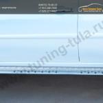Пороги труба 75х42 овал с проступью Mitsubishi Pajero Sport 2013+