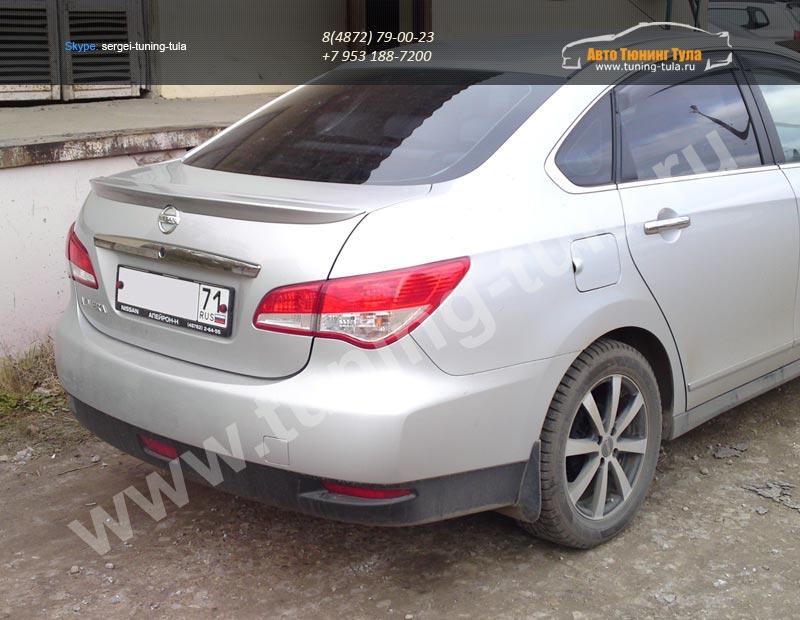 Лип спойлер багажника Nissan Almera 2013 +  / арт.114