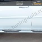 Пороги труба D76 с накладкой (вариант 1) Mitsubishi Pajero Sport 2013+