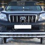 Защита переднего бампера d63(секции) d63(уголки)c зубьями Land Cruiser Prado 150 2009-2012