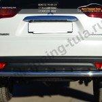 Защита заднего бампера d63 (волна) d42 (уголки) Mitsubishi Pajero Sport 2013+
