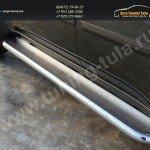 Пороги с площадкой (нерж. лист) 60,3 мм. Mitsubishi Pajero Sport 2013+