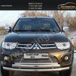 Накладки на решетку бампера16 мм. Mitsubishi Pajero Sport 2013+