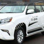 Защита штатных порогов d43 Lexus GX-460 2013+