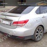 Лип спойлер багажника Nissan Almera 2013 +