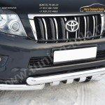 Защита переднего бампера d76(дуга) d76х2(дуга)+клыки  Land Cruiser Prado 150 2009-2012