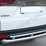 Защита заднего бампера d76 (дуга) d42 (дуга) Mitsubishi Pajero Sport 2013+