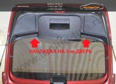 Накладка на 5-ю дверь «KART RS» (тиснение) Рено Сандеро / Stepway 2009-2014/ арт.368-4