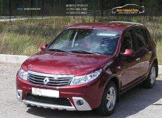 Накладки на фары КАРТ/ реснички из 2 частей Renault Sandero  2009-2014 /арт.186-1-1