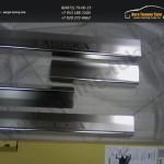 Накладки порогов от царапин Alufrost /Нерж.сталь/ Opel MOKKA 2012+