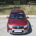 Накладки на фары КАРТ/ реснички из 2 частей/ Renault SANDERO 2009 +