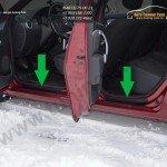 Накладки в проемы дверй «KART RS» (пер.+зад. / тиснение) Рено Сандеро / Stepway