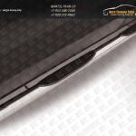 Пороги труба d76 с проступью Chevrolet Captiva 2013+