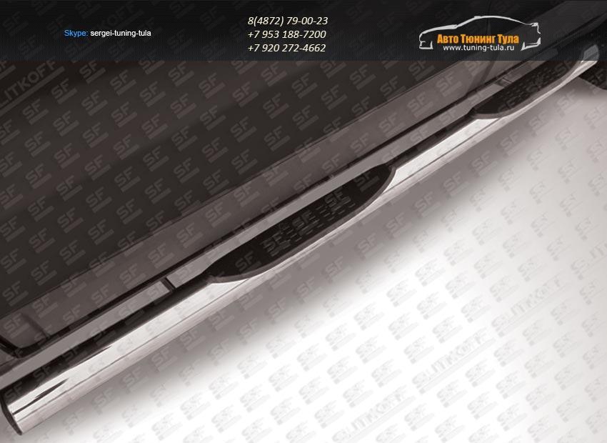 Пороги труба d76 с проступью  Chevrolet Captiva 2013+ / арт.739-5