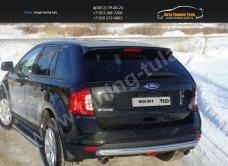 Защита задняя овальная d75х42мм Ford EDGE 2014+/арт.738-9