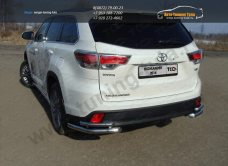 Защита задняя (уголки двойные) d60,3/42,4 мм Toyota Highlander 2014 +/арт.737-3