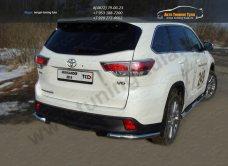 Защита задняя (уголки) 60,3 мм Toyota Highlander 2014 +/арт.737-2