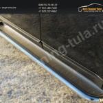 Пороги с листо из нержавеющий стали d60 Ford EDGE 2014+