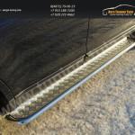 Пороги подножки труба с площадкой d42мм  Ford EDGE 2014+