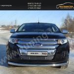 Накладки на решетки радиатора+бампера d12 Ford EDGE 2014+
