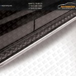 Пороги d57 с алюминиевым листом Chevrolet Captiva 2013+