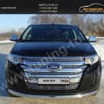 Защита бампера овальная d75х42мм Ford EDGE 2014+