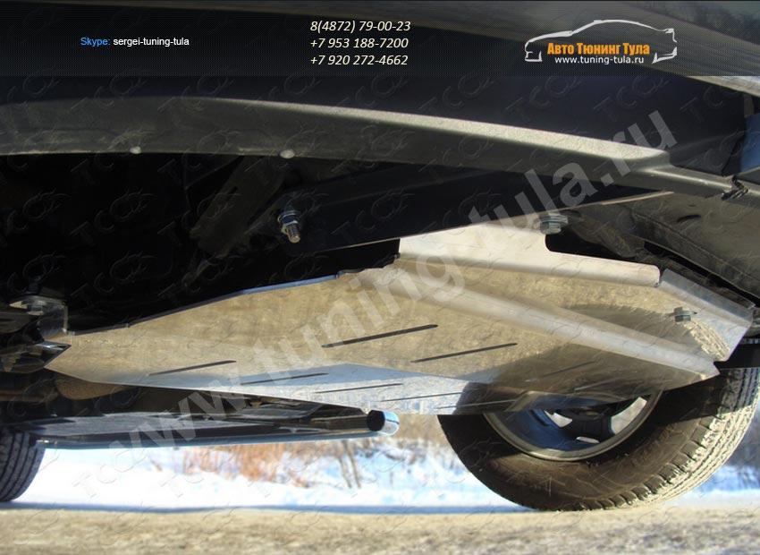 Защита картера алюминий d4мм  Ford EDGE 2014+/арт.738-11