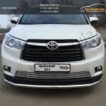 Защита передняя нижняя 60,3 мм  Toyota Highlander 2014 +