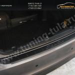 Защита заднего бампера от царапин KIA RIO Седан III 2011+
