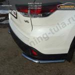Защита задняя (уголки) 60,3 мм Toyota Highlander 2014 +