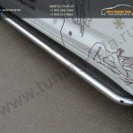 Пороги труба d60,3 мм с листом из нерж. стали Toyota Highlander 2014 +