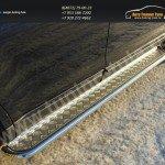 Пороги/подножки труба с площадкой d60 Ford EDGE 2014+