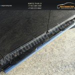 Пороги/подножки овал с накладками d120x60 Ford EDGE 2014+