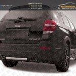 Защита заднего бампера d57 + уголки d57 Chevrolet Captiva 2013+