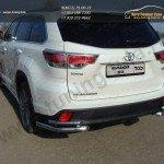 Защита задняя (уголки двойные) d60,3/42,4 мм Toyota Highlander 2014 +