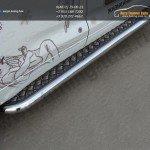 Пороги труба d60,3 мм с листом из алюминия Toyota Highlander 2014 +
