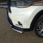 Защита передняя нижняя (двойная) 60,3/42,4 мм Toyota Highlander 2014 +