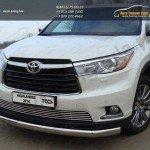 Защита передняя нижняя (овальная) 75х42 мм Toyota Highlander 2014 +