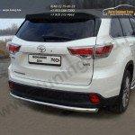 Защита задняя d60,3 мм Toyota Highlander 2014 +